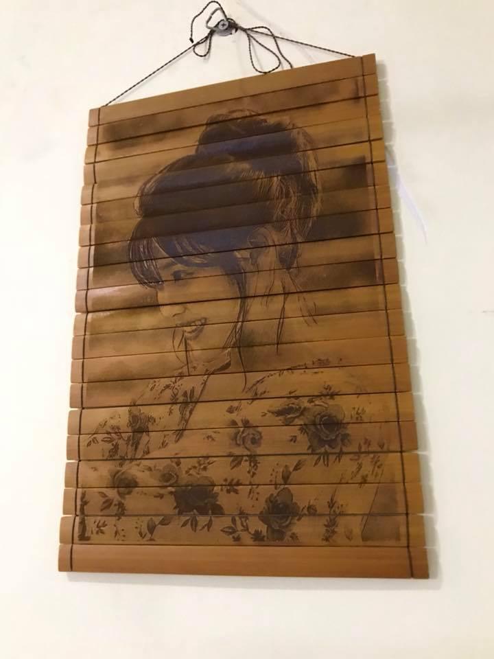 Tranh treo tường bằng gỗ được tạo nên từ khắc laser