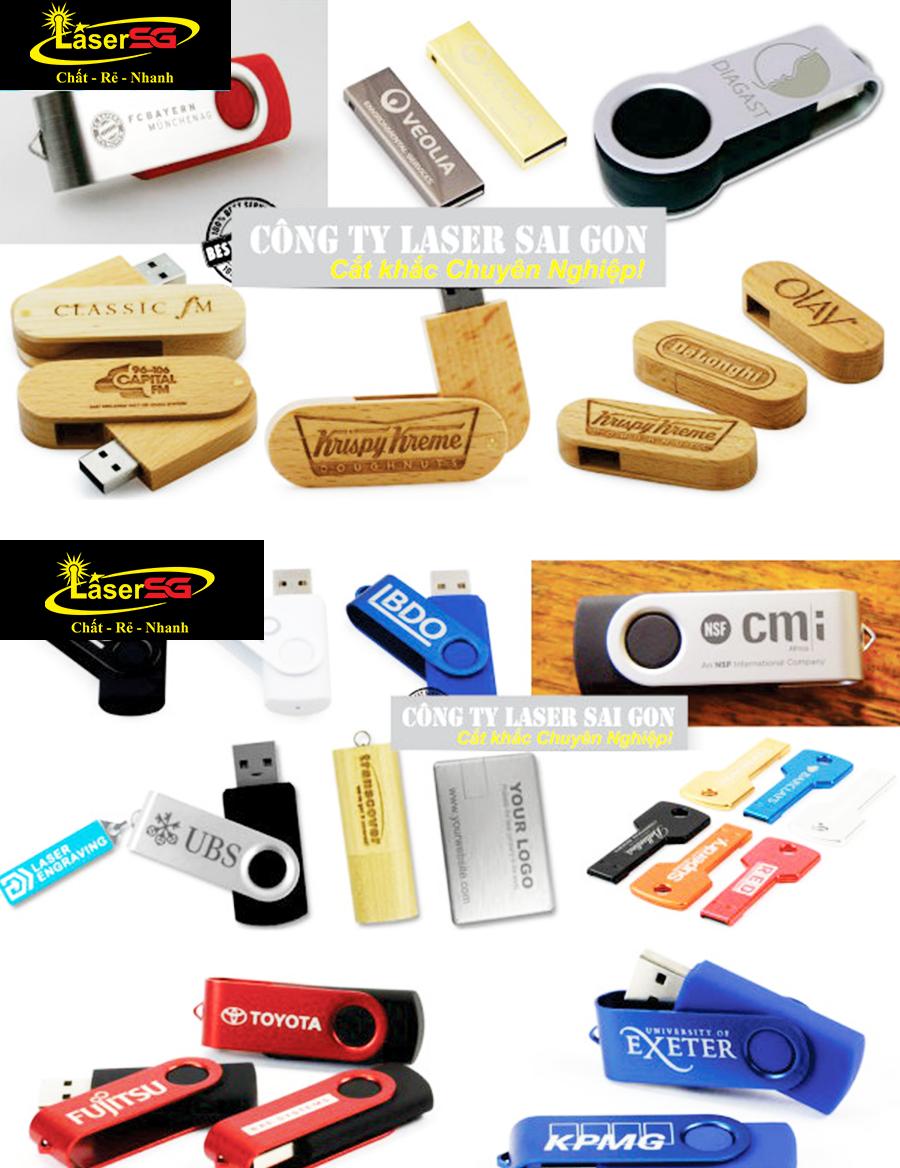 KHẮC LASER LÊN USB RẺ MÀ ĐẸP CHỈ CÓ TẠI LASER SÀI GÒN
