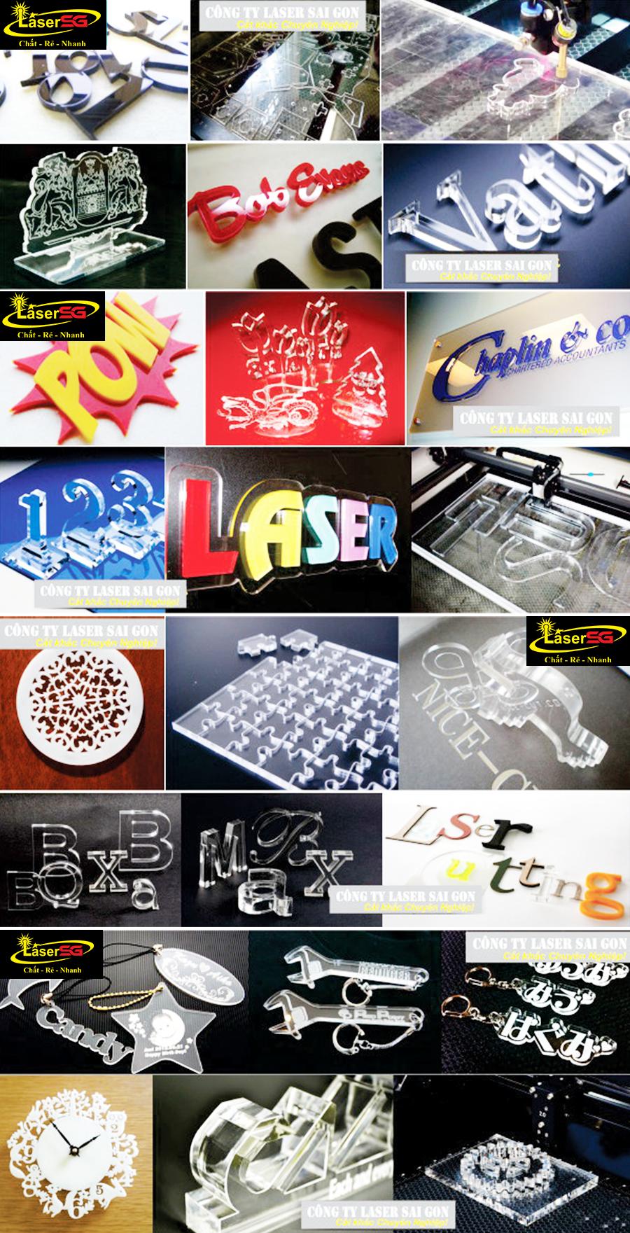 Tạo hình bảng hiệu, bảng quảng cáo dễ dàng hơn bao giờ hết nhờ công nghệ khắc laser lên mica